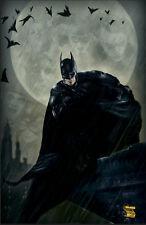 BATMAN MOON ART PRINT BY MINDY WHEELER SIGNED 11x17