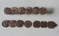 Brosche China Fragment chinesisch Schriftzeichen Blüten asiatisch Schmuck