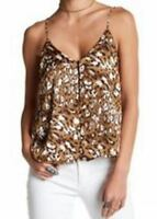 Lush Women's Brown Animal Print Leopard Camisole Lined Top XS S M L XL $34 *NWT*