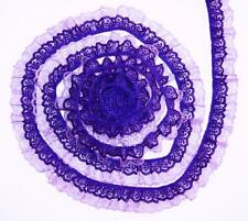 Purple on Lavender~DOUBLE Ruffle 2 Inch Candlewick Lace Trim~By 5 Yards