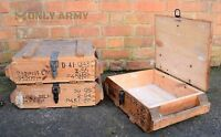 Army Issue RG42 F1 Wooden Storage Box Grenade Ammo Tool Full Wood With Handles