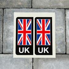 2 x Union Jack UK British Flag Vinyl Stickers Number Plate Brexit - SKU5263
