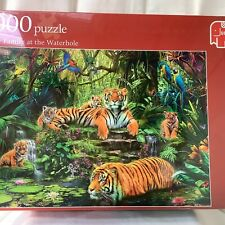 Jumbo 1000 Piece Puzzle - Tiger Family at the Waterhole 17245 NEW & SEALED