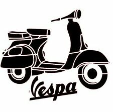 Vespa Scooter decal/bumper sticker for your car, laptop, iPad cover, den or desk