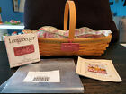 Longaberger May Series Peony Basket, Liner, Protector and Tag