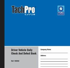 4 Tachpro 50 Page Drivers Daily Vehicle Defect & Check Book In Duplicate 200 pgs