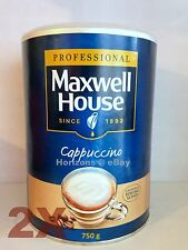 2 x Maxwell House Coffee - Instant Cappuccino 750g Large Tin [Free UK Postage]