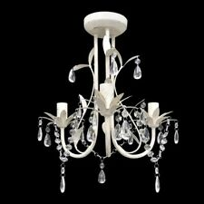 vidaXL Kroonluchter 3 Lampen Kristal Wit Hanglamp Lamp Plafond Verlichting