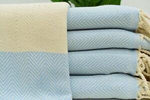 Brides Towel, Fouta Towel, Barber Towel, Turkish 40x70 Herringbone Towel Tkr-Ldy