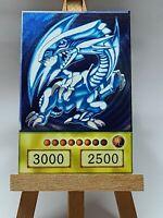 Blue Eyes w. Dragon Yugioh Custom Anime Card In Partial Holo Orica YuGiOh Proxie