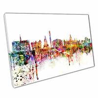 Print on Canvas Colourful Skyline landmarks Dundee Scotland 30x20 Inch