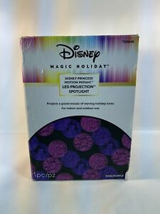 Disney Princess Magic Holiday Pink/Purple Motion LED Projection Party Light Work