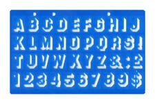 Plantilla de sombra de 20 mm 3d Caja superior de fuentes letras del alfabeto y números Plantilla