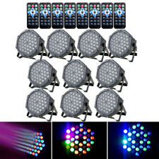 10Pcs 72W 36Led Rgb Par Can Light Dmx512 Stage Lighting Disco Dj Party Wedding