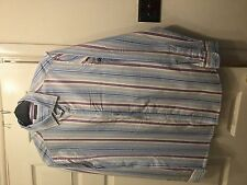 Next Men's Striped Cotton Casual Shirts & Tops