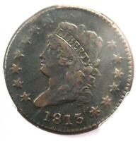 1813 Classic Liberty Head Large Cent 1C - PCGS XF Details (EF) - Rare Date Coin!