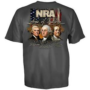 NRA T-Shirt Sons Of Freedom New Authentic National Rifle Association S-3XL