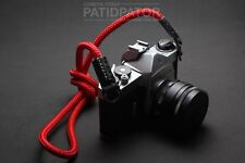 Color Red Rope Climbing Neck / Shoulder Strap Compatible with all Camera.