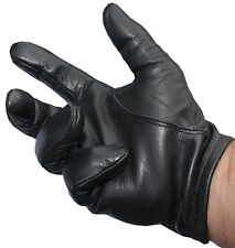 Police Tactical Leather Gloves Black M