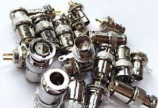 5xTwin Twinax BNC male plug female jack nut bulkhead solder RG59 RG108 connector