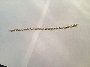 14Kt Yellow Gold Heart Bracelet Beverly Hills