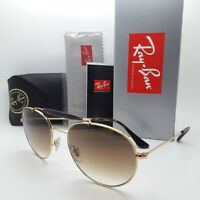 NEW Rayban Sunglasses RB3540 001/51 56 Double Bridge Gold Brown Gradient GENUINE