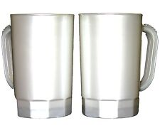 10 1 Pint Beer Mugs/Steins Pearl White Color Made in America Lead Free No Bpa*