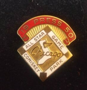 1950 CHICAGO WHITE SOX BASEBALL ALL STAR GAME PRESS PIN NEAR MINT IN NEW CASE