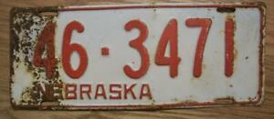 SINGLE NEBRASKA LICENSE PLATE - 1942 - 46-3471 - MERRICK COUNTY