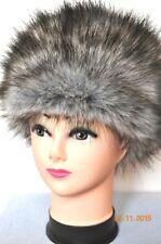 GREY silver fox Faux Fur PREMIUM QUALITY Hat WOLF Russian Style Cossack Fluffy