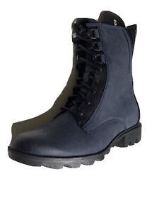 Sorel Phoenix moto  Boots 9.5 Navy Blue Leather waterproof