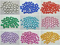 200 Flatback Acrylic Round Sewing Rhinestone 10mm Sew on beads Pick Your Color