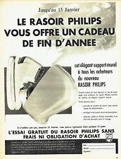 Publicité Advertising 028  1959  Philips  rasoir  éléctrique support mural
