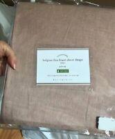 Pottery Barn Set 2 Belgian Linen Sheer Drapes Soft Rose 50x84L Pole Curtain Pair