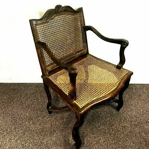 19th Century French Country Cane Arm Chair
