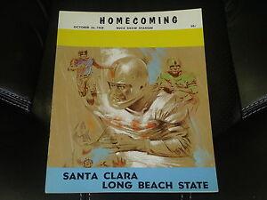 1968 LONG BEACH STATE AT SANTA CLARA COLLEGE FOOTBALL PROGRAM EX-MINT