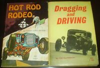 Lot of 2, VINTAGE 1960's BOOKS, HOT ROD RODEO, DRAGGING AND DRIVING, CARS