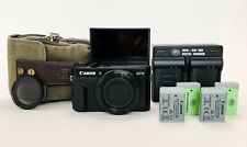 Canon PowerShot G7X Mark II Vlogging Camera Bundle with Accessories, Case & Box