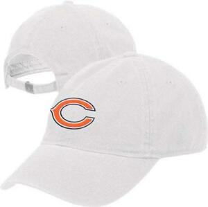 Chicago Bears NFL Reebok White Slouch Relaxed Hat Cap Adult Unisex Adjustable