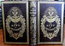 Gift of Friendship 1848 decorative leather gift binding w/ engravings
