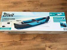 Crivit 2 person inflatable kayak with paddle and waterproof bag