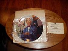 Brantwood Collection Tribute To Norman Rockwell Plate 1978 w/box