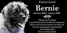 Personalized Leonberger Pet Memorial 12x6 Engraved Granite Grave Marker Stone