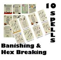 Lot 10 Real Wicca Book of Shadows Banishing Spell Pages Pagan Witchcraft Spells