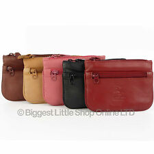 NEW Mens Ladies Quality Leather Coin Purse by Visconti Keys Zip Change 6 Colours