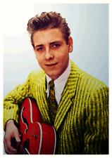 1950s Rock 'n' Roll Eddie Cochran Poster Rockabilly Vintage Retro Hot Rod Rockin