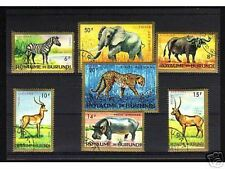1009++BURUNDI   SERIE TIMBRES  ANIMAUX  SAUVAGES