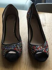 High (3 in. and Up) Medium (B, M) Slim Multi-Colored Heels for Women