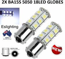 2 X BA15S SMD 5050 18LED BRAKE STOP TAIL LIGHT BULB GLOBE 12V LIGHT CAR UTE 4WD