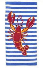 MND Brand New Style 100% Cotton Lobster Beach Towel  380g - Multi-Coloured